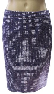 Tory Burch Abstract Print Pencil Skirt purple and white