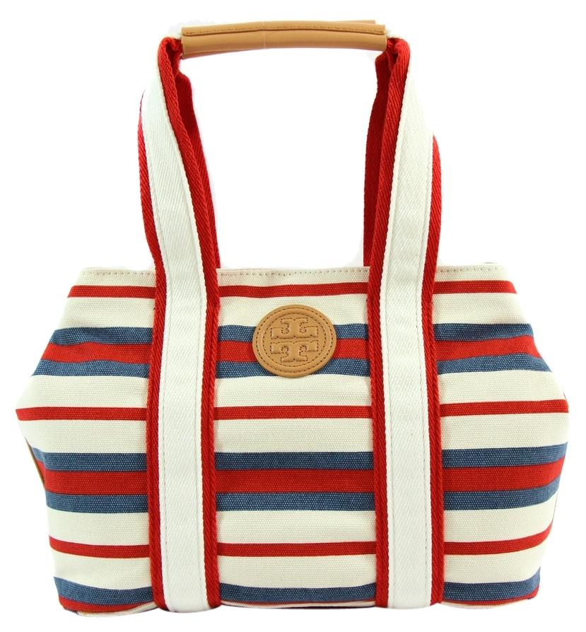 Tory Burch Printed Small East West Multi Color Canvas Tote