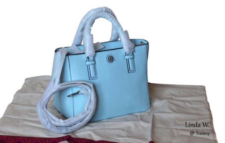 ba7b30505a0 ... switzerland tory burch leather silver hardware crossbody logo medallion  versatile tote in iceberg blue 4a286 5bfaa