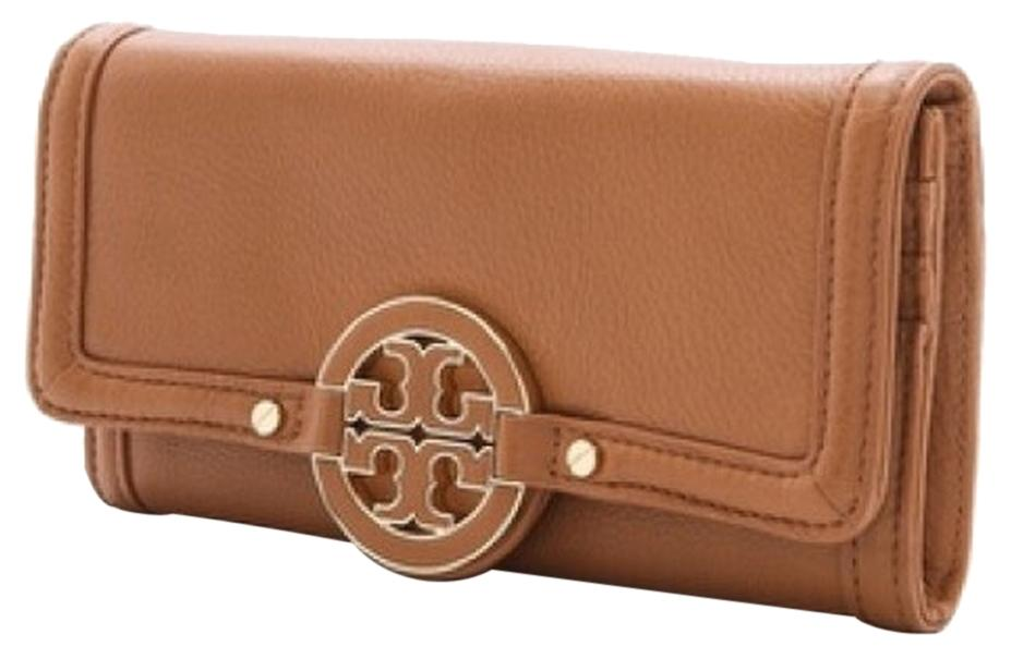 1c00114970070 ... sale tory burch tory burch amanda envelope continental wallet royal tan  brown leather 6965a 7e077