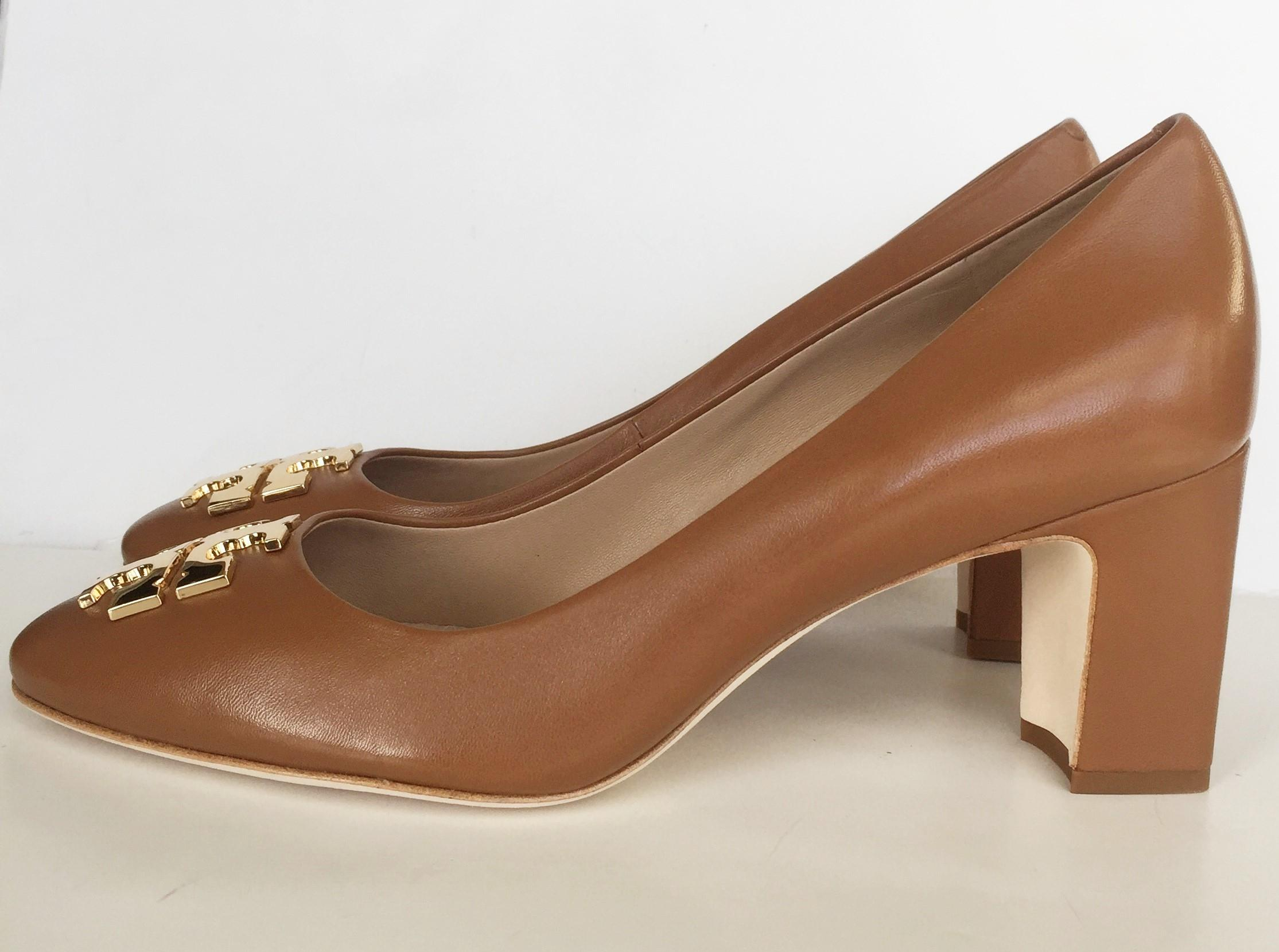 Tory Burch royal tan Pumps. 123456789101112