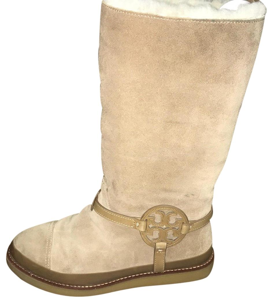 Tory Burch Sand Dana Desert Shearling Boots/Booties Size US 9 Regular (M, B)