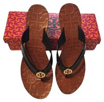 Tory Burch Wedge Thora black/tan Sandals