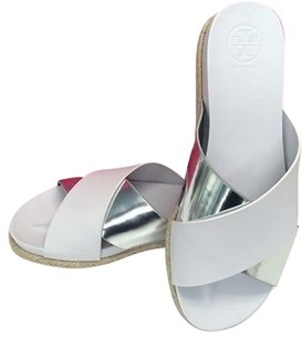 Tory Burch Monterey Two Tone White Sandals