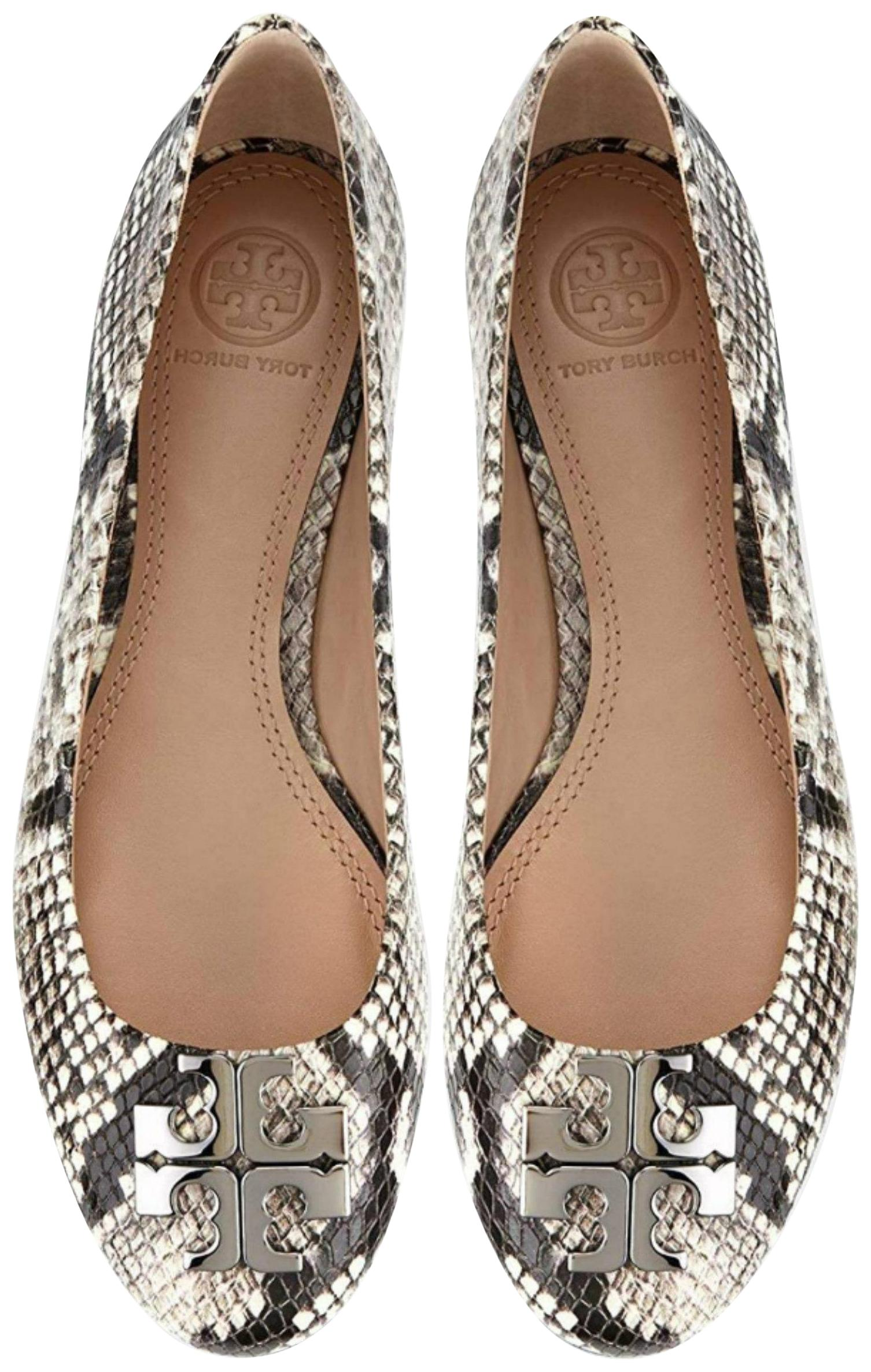 9ee244020df9bd ... 50% off tory burch snake print black white flats d75a5 75d39