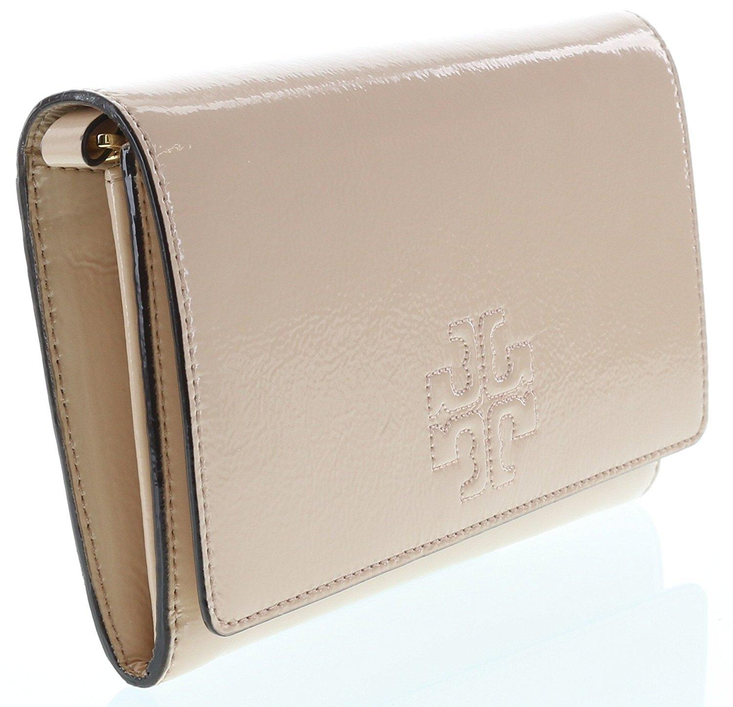 1c42740987ee ... switzerland tory burch charlie patent flat wallet light oak leather  cross body bag tradesy 5a491 e324a