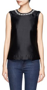 Tory Burch Tasha Beaded Top Black