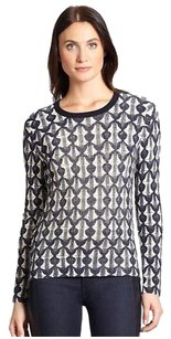Tory Burch Tia Printed Print Sweater