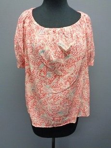 Tory Burch Floral Top Red Blue