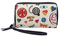 Tory Burch Tory Burch Robinson Ivory Lucky Leather Smartphone Tech Wristlet Wallet