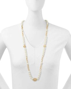 Tory Burch Tory Burch Tilde Pearl Rosary Necklace