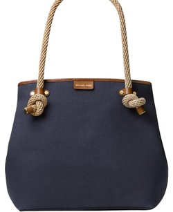 Tory Burch Tote in Navy/Gold