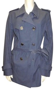 Tory Burch Notched Double Breasted Trench Hs3010 Trench Coat