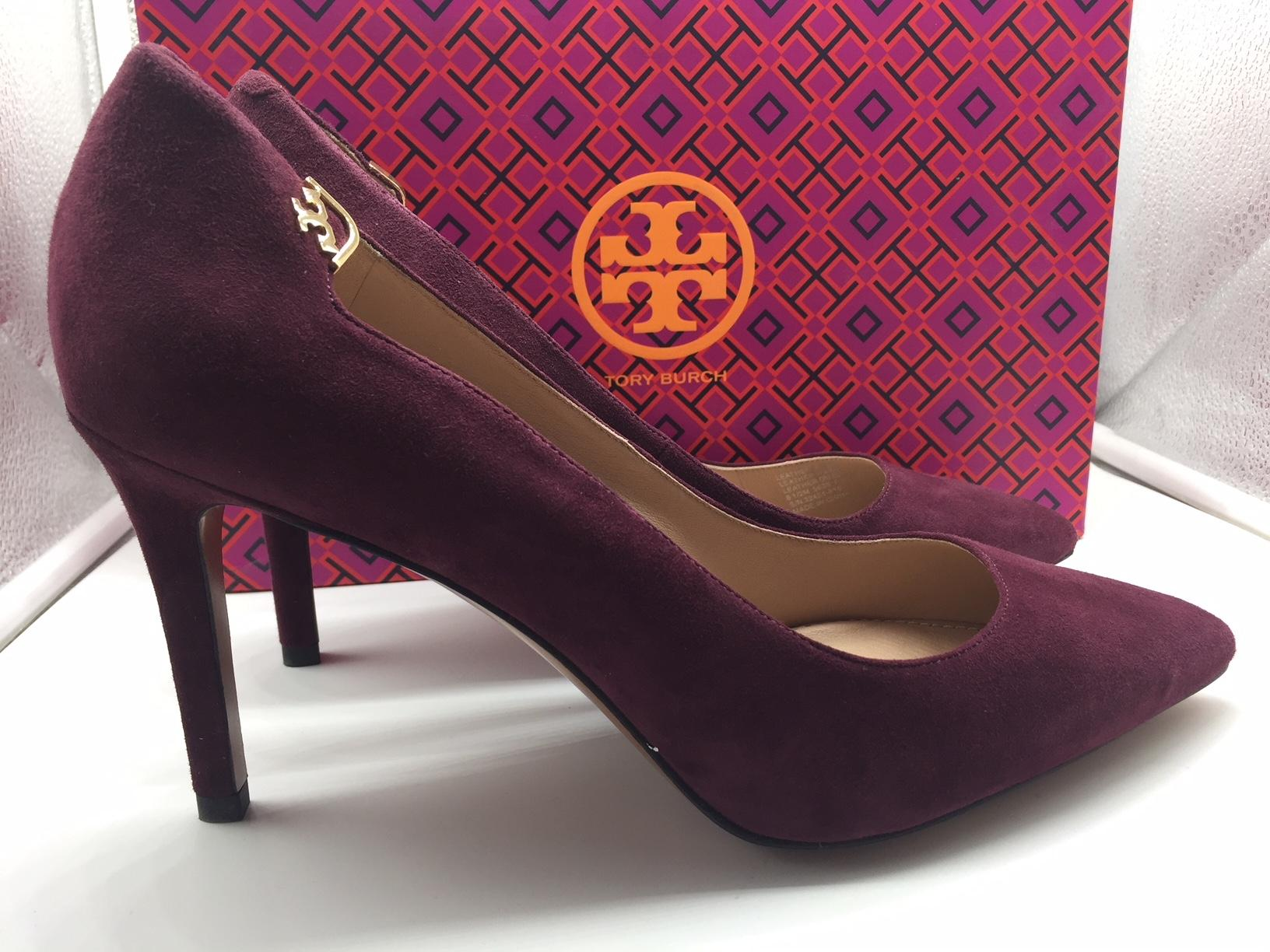 8cedf180642c ... Tory Burch Wine Red Elizabeth 85mm Port Suede Pumps Pumps Pumps Size US  9.5 Regular ...