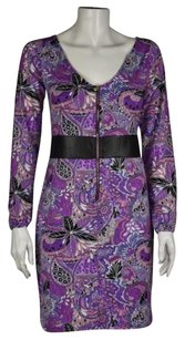 Tracy Negoshian Womens Floral Reversible Sheath Dress
