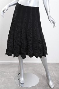Tracy Reese Wool Ruched Skirt Black