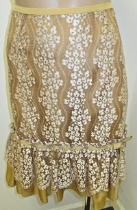 Tracy Reese W Lace Skirt Gold & Ivory