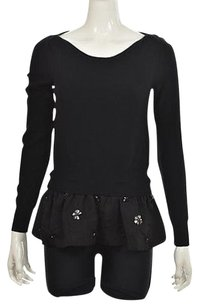 Tracy Reese Womens Boatneck Long Sleeve Shirt Sweater