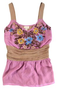 Tracy Reese Color Multi Silk Ss Top