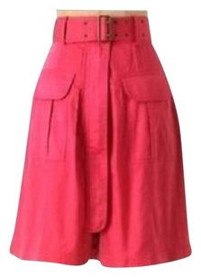 Anthropologie Skirt Raspberry