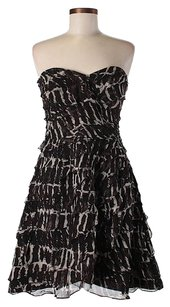 Tracy Reese Strapless Fit & Flare Printed Ruffle Dress