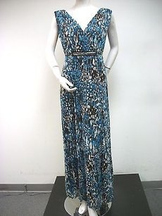 Multi-Color Maxi Dress by Tribal Teal Brown Print