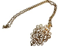 Trifari Trifari Necklace With Pendant. Gold Coloring. Chain 20 Inches Long