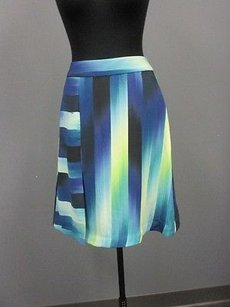 Trina Turk Blue Lime Skirt royal blue, lime, turquoise