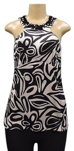Trina Turk Swirl Top Antique beige Black