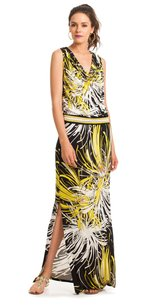 Black, White, Yellow Maxi Dress by Trina Turk Maxi Print Bold Floral