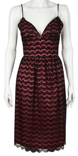 Trina Turk Womens Lace Sheath Nylon Below Knee Spaghetti Straps Dress