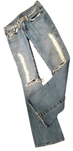 True Religion Ripped Flare Leg Jeans-Distressed