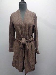TSE Long Cardigan Belted With Pockets Sma11367 Sweater