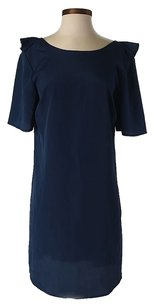 Tucker short dress Navy Blue Nwt Ruffle Shift on Tradesy