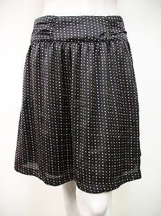 Tulle Diamond Polka Dot Skirt Black