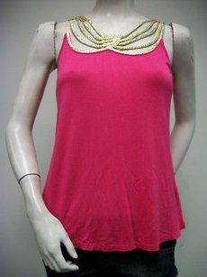 Tulle Ovelap Draped Rope Top Pink