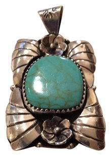 Turquiose and silver pendant
