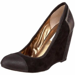 Twelfth St. by Cynthia Vincent Black Suedepewter Leather Chase Wedge 170193e Black/pewter Platforms