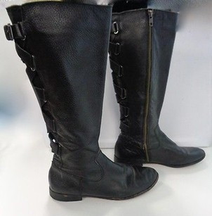 Twelfth St. by Cynthia Vincent Leather Casual Zip Up Mid Calf Fashion B2740 Black Boots