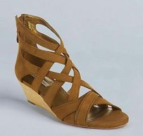 Twelfth St. by Cynthia Vincent Caramel Lotus Brown Sandals