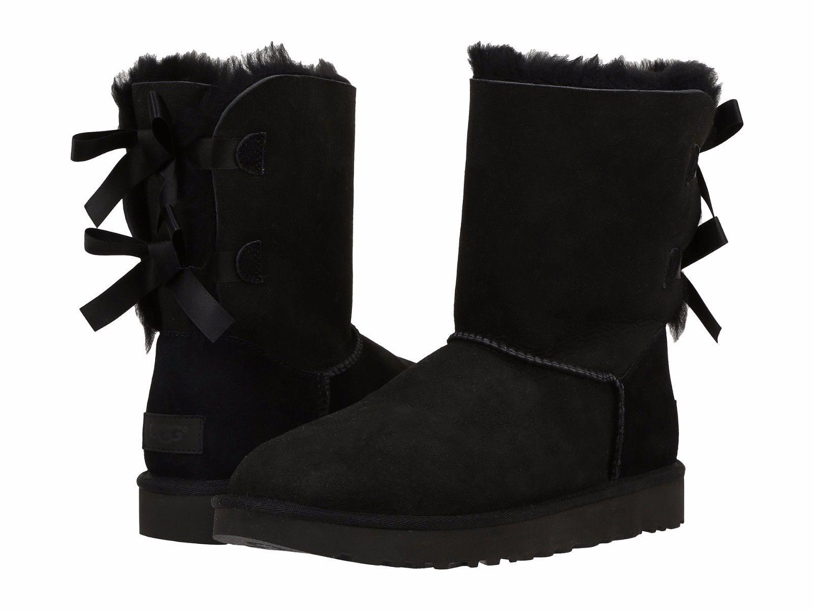 UGG Australia For Her 1016225 Size 6 Black Boots ...