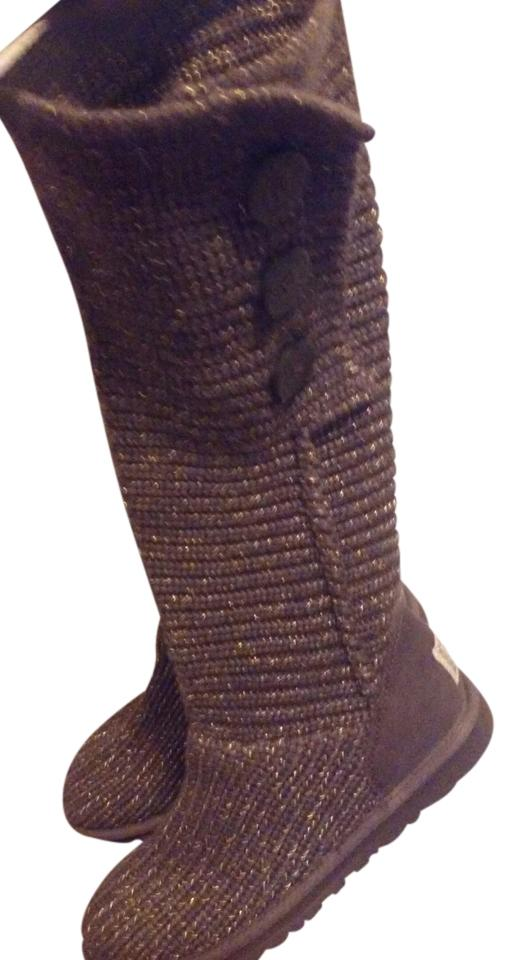 UGG Australia Brown with gold shimmer thread Boots ...