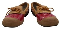 UGG Australia Ugg Womens Color Block Duck Boots Casual Loafers Guc Red Brown Flats