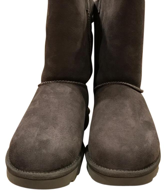 78e96952596 authentic ugg bailey bow grey size 9 a4390 fc83f