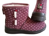 UGG Australia Hearts Pink Wool Rose Boots