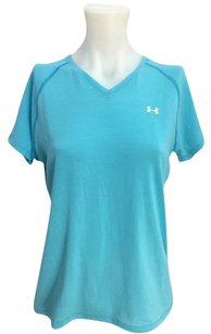 Under Armour Under Armour Light Blue V Neck Short Sleeve Shirt Womens Sm