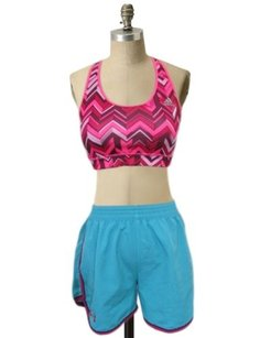 Under Armour Under Armour Sm Teal Magenta Trim Running Shorts Athletic Curved Sides