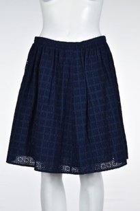 Uniqlo Womens Eyelet Embroidered Causal Skirt Navy