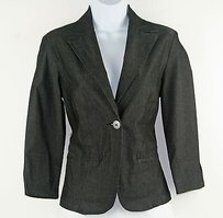 United Colors of Benetton United Colors Of Benetton Charcoal Long Sleeve One Button Blazer B183