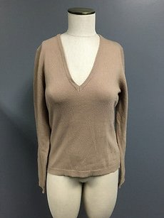 United Colors of Benetton Womens Light Wool V Neck Long Sleeve Thin Sm2768 Sweater